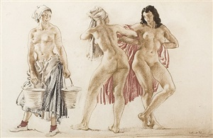 washer women by william russell flint