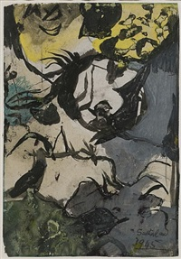 study for entrance to a lane by graham sutherland