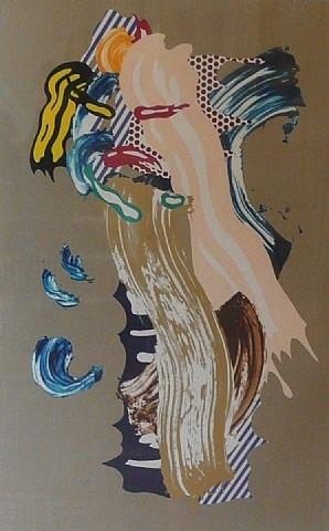 blonde (from brushstroke series) by roy lichtenstein