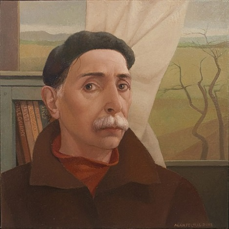 self-portrait in studio by alan feltus