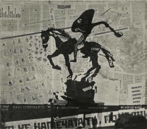 nose on a horse projection by william kentridge
