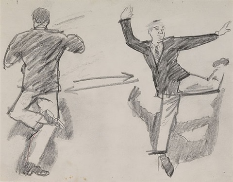 sketch for back to back by larry rivers