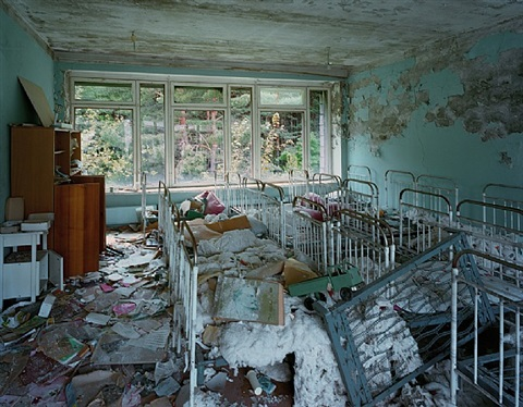 "nurseries in kindergarten #7, ""golden key,"" pripyat by robert polidori"