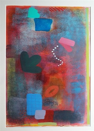 red painting by robert natkin
