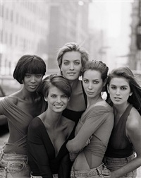naomi campbell, tatiana patitz, christy turlington, linda evangelista, cindy crawford new york by peter lindbergh