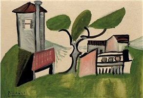 paysage au pin by pablo picasso