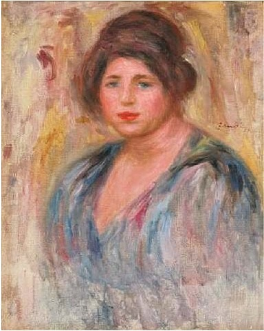 portrait de femme by pierre-auguste renoir
