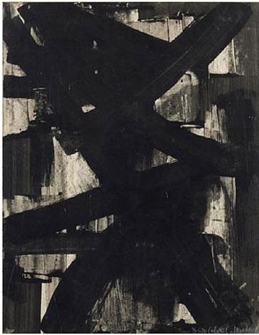 gouache sur papier 65 x 50 cm by pierre soulages