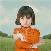 girl with crossed arms by loretta lux
