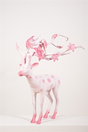 the cherry blossom deer by qin weihong