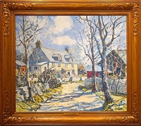 frosty morning by walter elmer schofield