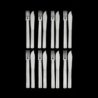piece fish cutlery 'round model' by josef hoffmann