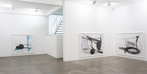 anjo e boneco (guaches, 2013) | exhibition view at galeria fortes vilaça by nuno ramos