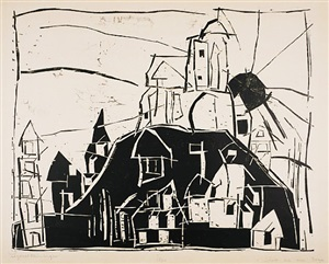 city on the mountain by lyonel feininger
