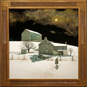 moonlight over the farm by peter sculthorpe