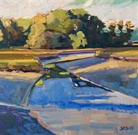 evening low tide by john santoro