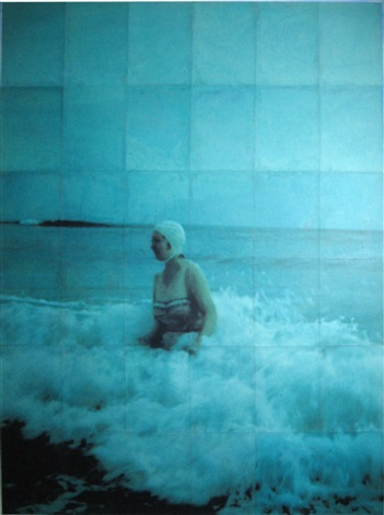 woman in the waves ii by isca greenfield sanders