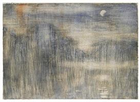 nebliger abend am see (monte tamaro am lago maggiore) by christian rohlfs