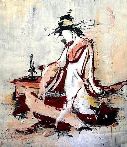 red geisha by lars teichmann