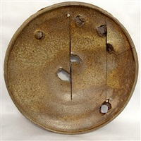 melted ash gas-fired plate by peter voulkos