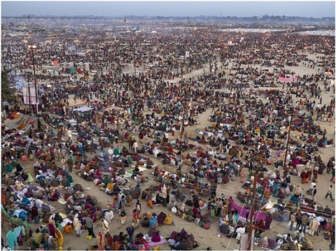 kumbh mela #2, allahabad, india by edward burtynsky