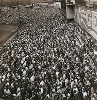 world series crowd, yankee stadium, new york by w. eugene smith