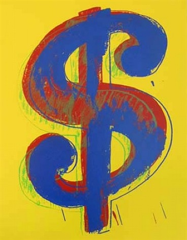yellow dollar (sunday b. morning) by andy warhol