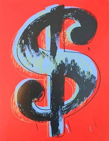 red dollar (sunday b. morning) by andy warhol
