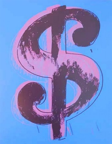 blue dollar (sunday b. morning) by andy warhol