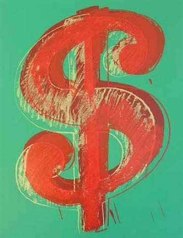 green dollar (sunday b. morning) by andy warhol