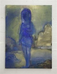 akt in gold-blau by leiko ikemura