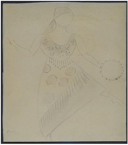 sin título (bailarina con pandereta) by joan miró