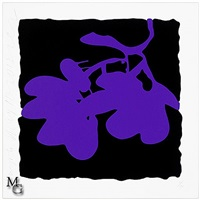 lantern flowers (purple, may 10, 2012) by donald sultan