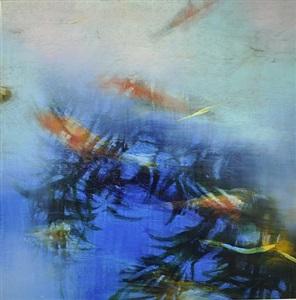 reflections swim over koi by david allen dunlop