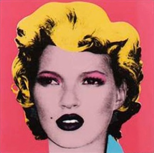 kate moss by banksy