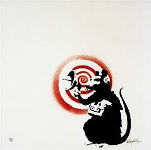sonic radar rat by banksy