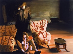 study for the bed, the chair, the sitter by eric fischl