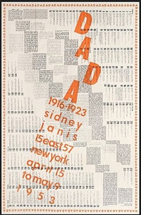 dada 1916-1923, sidney janis, april 15 to may 9 by marcel duchamp