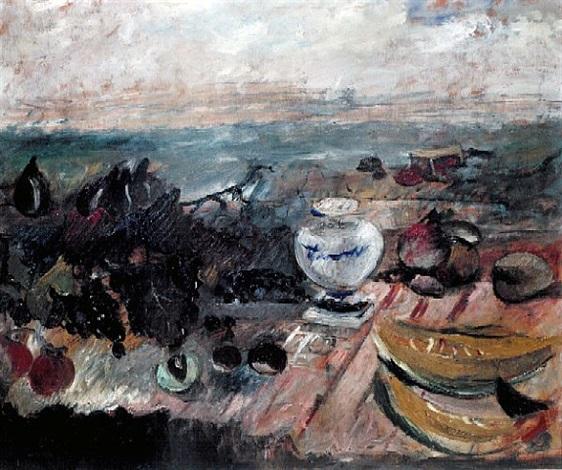 still life (tribute to delacroix) by marino marini