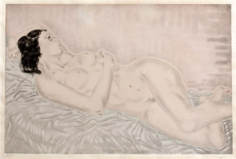 nu (from the series 'femmes') by léonard tsuguharu foujita