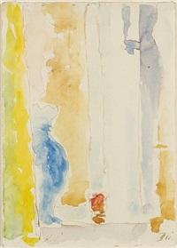 die fenster im atelier mit blauer vase by alexej jawlensky