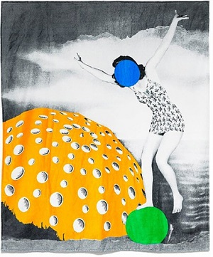 beach/bath towel, designed 2011 by john baldessari