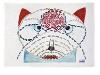 champfleurette #2 tea towel x, 2012 by louise bourgeois