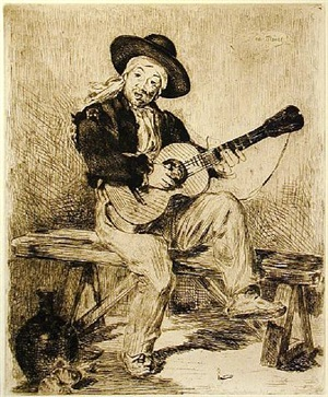 the spanish singer (le guitarero) by édouard manet