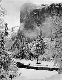 el capitan, winter, yosemite national park by ansel adams