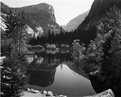 mirror lake, mount watkins, yosemite national park by ansel adams