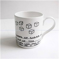six sugar mug mug by david shrigley