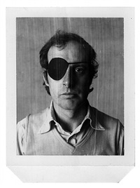 self-portrait with eye patch by billy apple