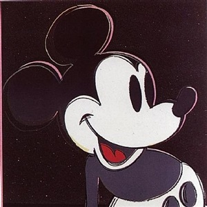mickey mouse by andy warhol