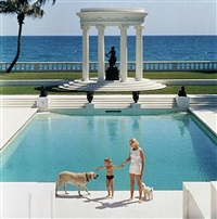 c.z. guest and her son alexander, villa artemis, palm beach by slim aarons
